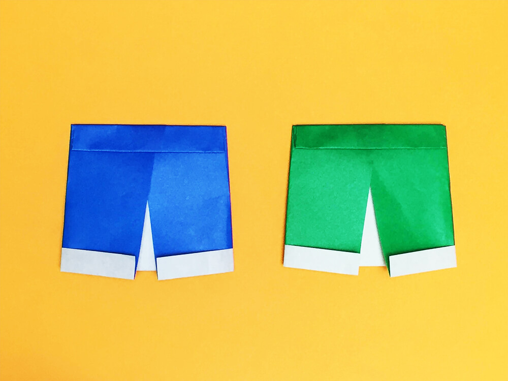 折り紙で折った半ズボン