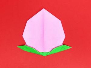 折り紙で折った桃