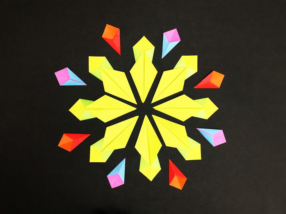 折り紙で折った花火
