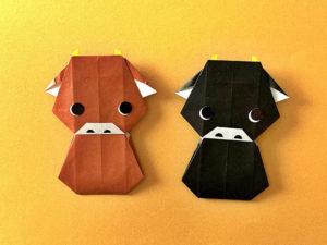 折り紙で折った仔牛ちゃん