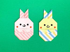 折り紙で作ったイースターうさぎ