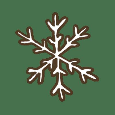 雪の折り紙
