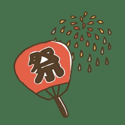 夏祭りの折り紙