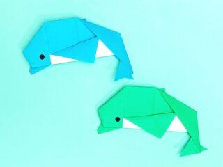 折り紙で作ったイルカ