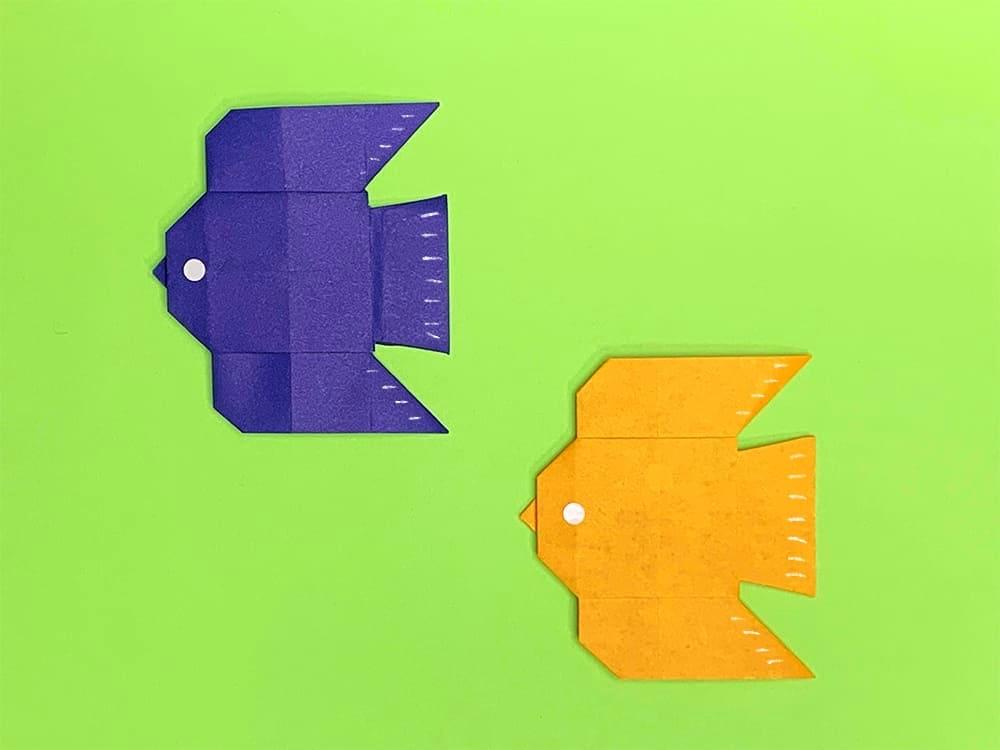 折り紙で折った鳥
