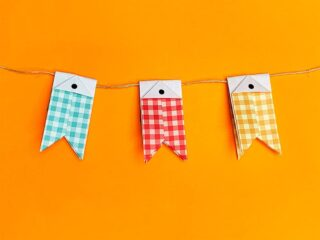 折り紙で折ったこいのぼりガーランド