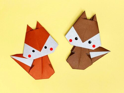 折り紙で折ったリス
