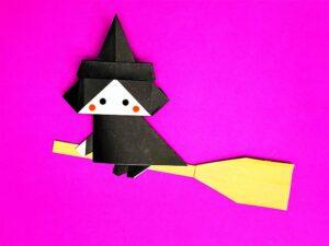 折り紙で折った魔女