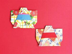 折り紙で折った浴衣