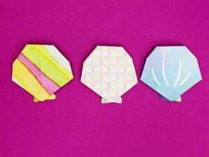 折り紙で折った貝殻
