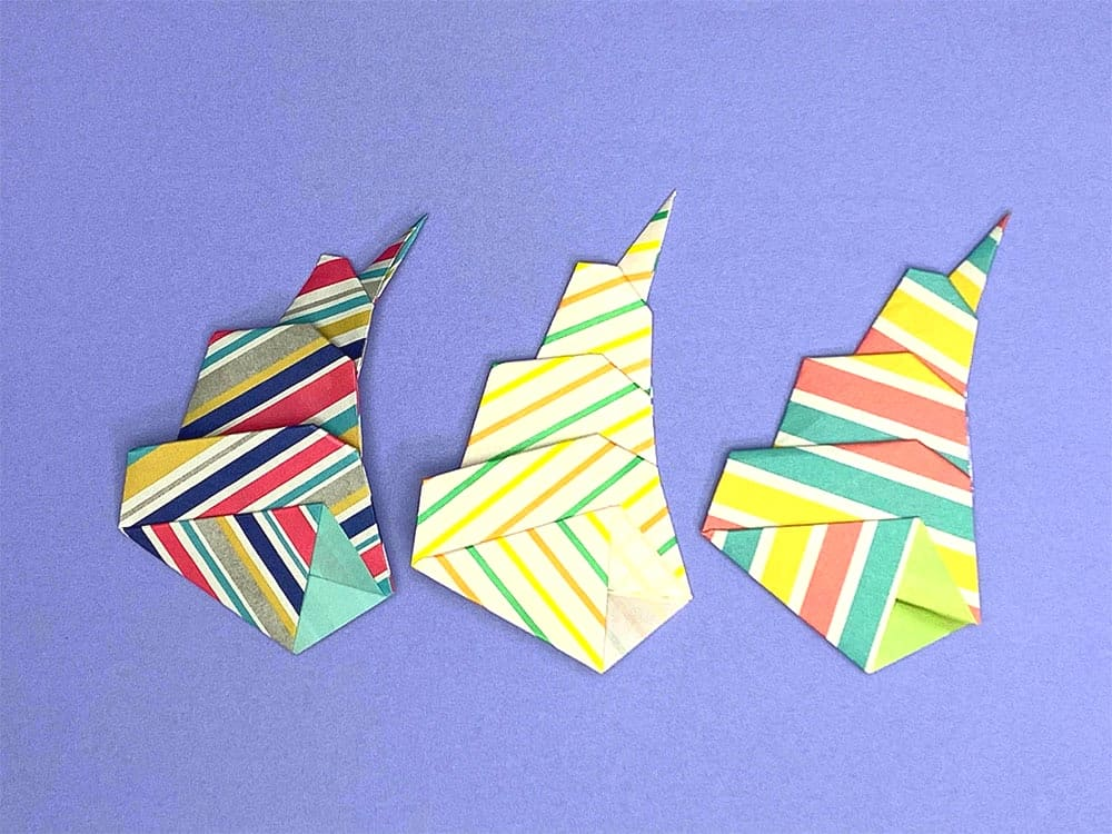 折り紙で折った貝がら
