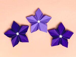 折り紙で折った桔梗