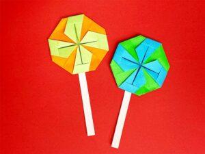 折り紙で作ったキャンディ