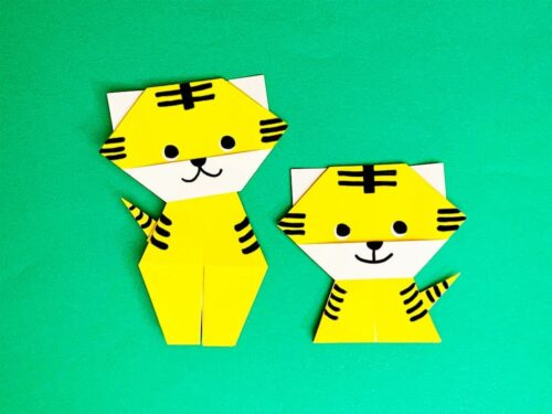 折り紙で折ったトラ
